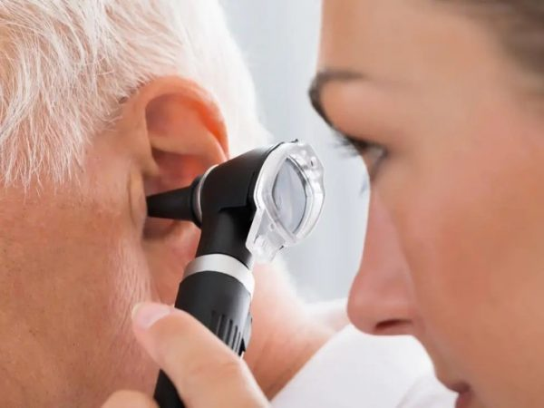 How are ear problems diagnosed?