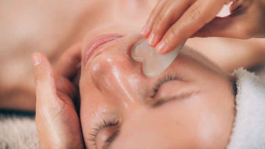 Gua sha facial massage